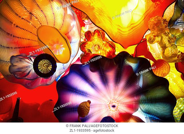 Persian Ceiling. Dale Chihuly Garden and Glass.Seattle,Washington USA