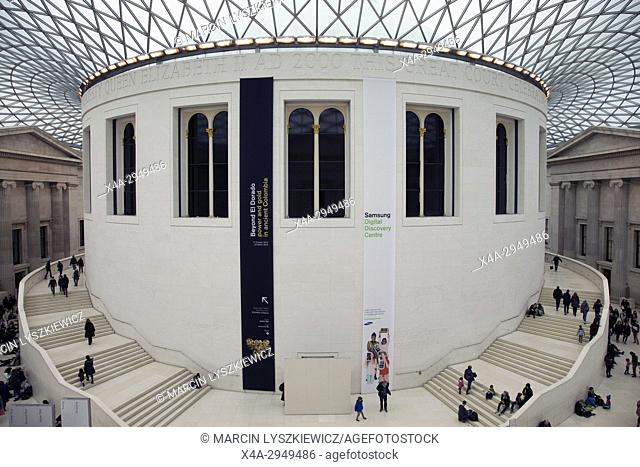 The Great Court of the British Museum, Great Russell Street, London, England, United Kingdom