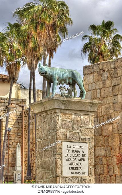 Luperca o loba capitolina. Mérida, Badajoz, Extremadura, España
