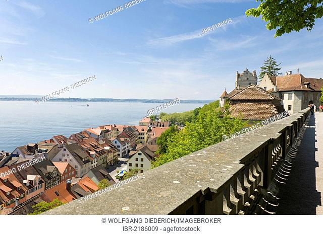 Castle, Altes Schloss Castle, Unterstadt district, Meersburg, Lake Constance, Baden-Wuerttemberg, southern Germany, Germany, Europe, PublicGround