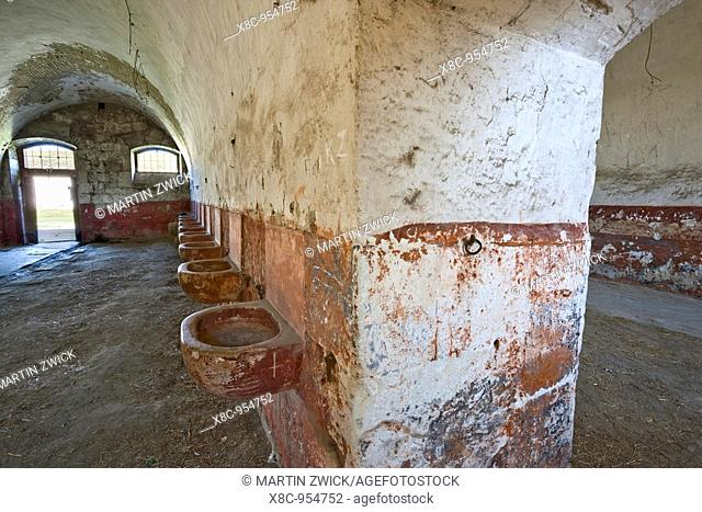 Fort Monostor in Komarom Monostori Eroed, Hungary  stables of the Radetzky husars with feeding throughs for the horses  The fort was built from 1850 onwards...