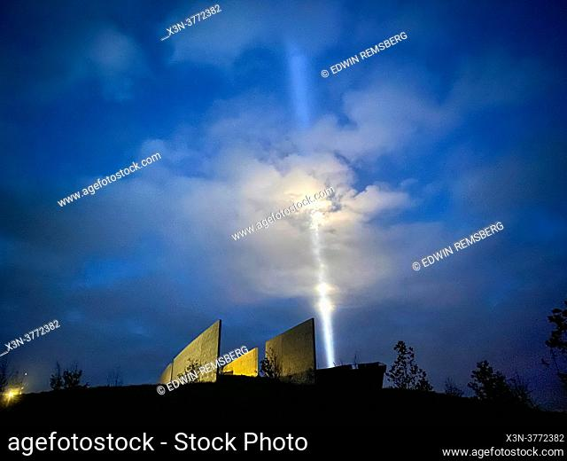 Beam of light over Flight 93 Memorial on September 11, Shanksville, PA