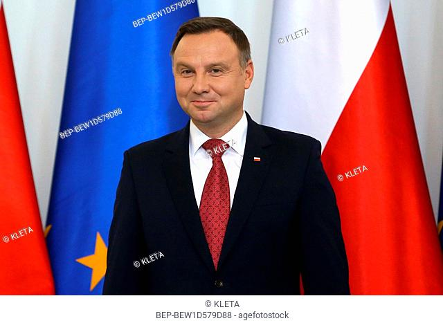 September 28, 2018 Warsaw, Poland. Pictured: President of Poland Andrzej Duda