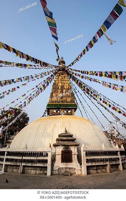Nepal, Kathmandu, local stupa