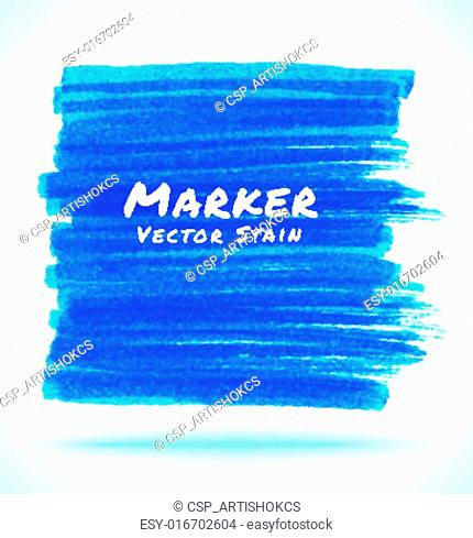 Blue Marker Stain