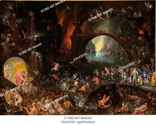 Christ in Limbo by Brueghel, Jan, the Elder (1568-1625)/Oil on canvas/Baroque/ca 1595/Flanders/Galleria Colonna, Rome/Bible/Painting/Christi Abstieg in die...