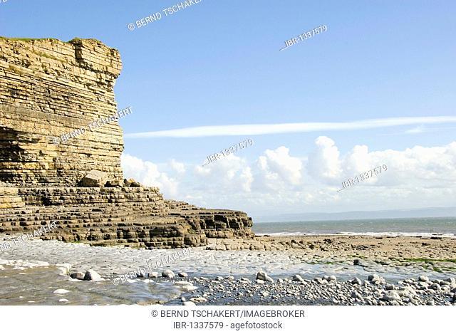 Cliff, coast, Nash Point, Glamorgan Heritage Coast, South Wales, Wales, United Kingdom, Europe