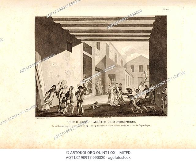 Cécile Renaud arrested at Robespierre on May 22, and tried on June 17, 1794: or 4 Prairial and 29 of the same month, An 2