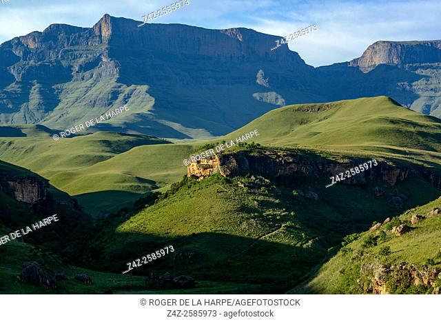 Giant's Castle Peak. Giant's Castle Game Reserve. Ukhlahlamba Drakensberg Park. KwaZulu Natal. South Africa