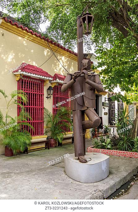 Street of Getsemani, Cartagena, Bolivar Department, Colombia