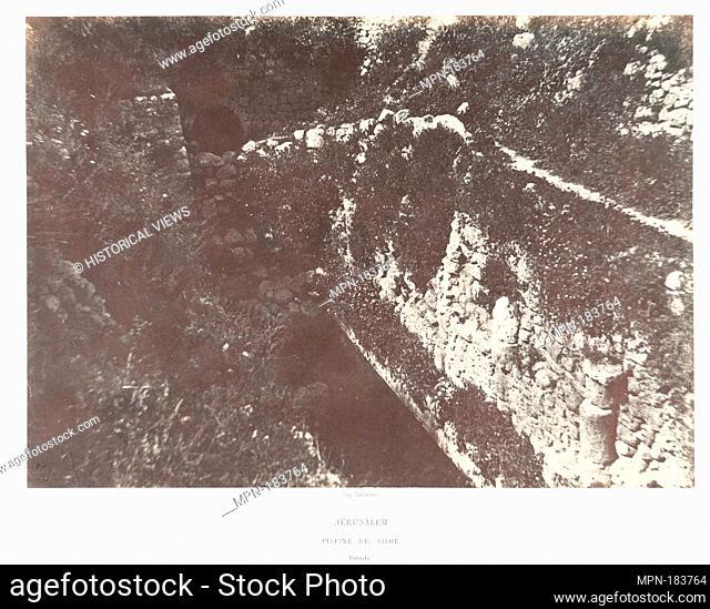 Jérusalem, Piscine de Siloe, Détails. Artist: Auguste Salzmann (French, 1824-1872); Printer: Imprimerie photographique de Blanquart-Évrard, à Lille (French