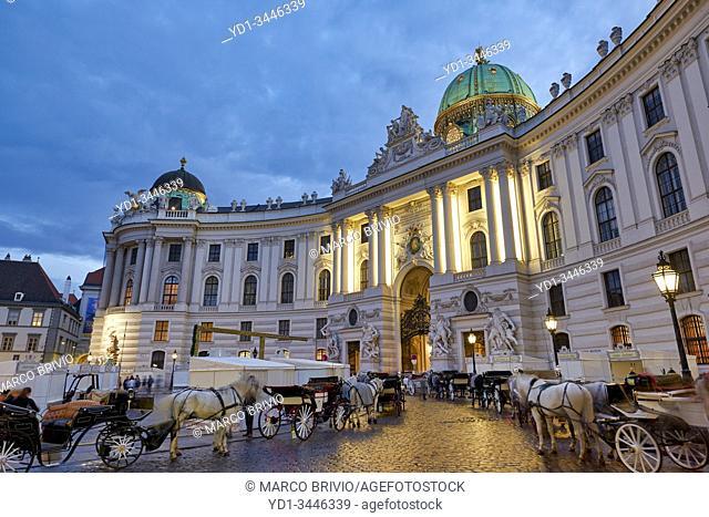 Michaeler Platz, Hofburg Palace. Vienna, Austria