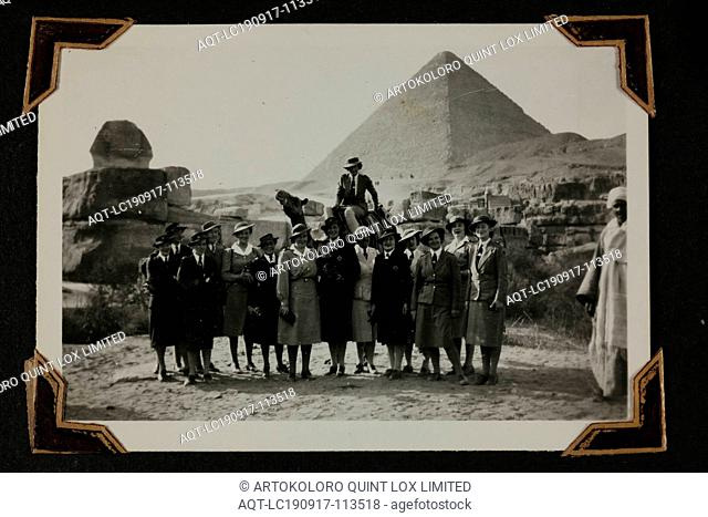 Photograph - Group at the Pyramids, Egypt, Sister Isabel Erskine Plante, World War II, circa 1942, One of 135 black and white photographs contained in a World...