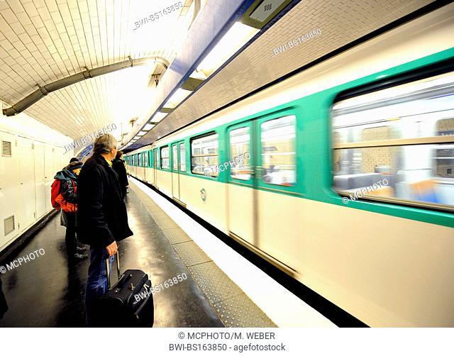 people at metro station, France, Paris