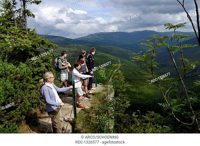 Aussicht, Oberes Elbtal, Riesengebirge, Tschechien