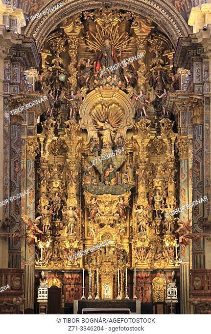 Spain; Andalusia; Seville; Iglesia San Salvador, church, interior,