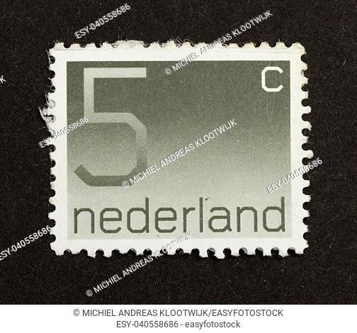 HOLLAND - CIRCA 1990: Stamp printed in the Netherlands shows the value it is worth, circa 1990