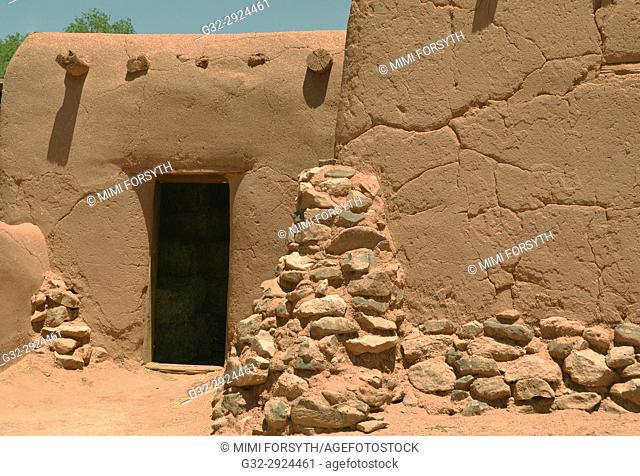 old adobe building, New Mexico