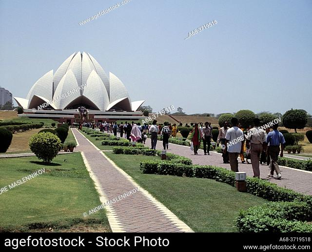 Bahai Worship House in Delhi. The Lotus Temple or Bahá'í House of Worship is located on Lotus Temple Road in the northern part of Kalkaji