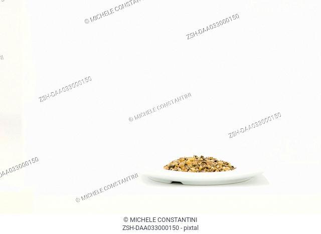 Gravel on dish