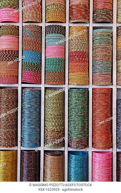 Indian colorful bracelet souvenirs, Rajasthan, India