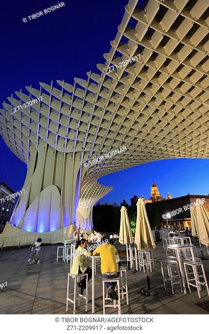Spain, Andalusia, Seville, Metropol Parasol, wooden structure, JŸrgen Mayer-Hermann architect,