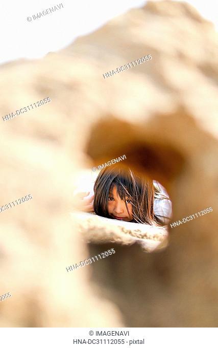 Children and Sand Tunnel
