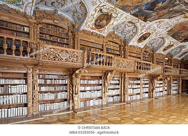 abbey library to Waldsassen, Upper Palatinate, Bavaria, Germany