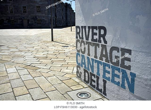 England, Devon, Plymouth. River Cottage Canteen at the Royal William Yard