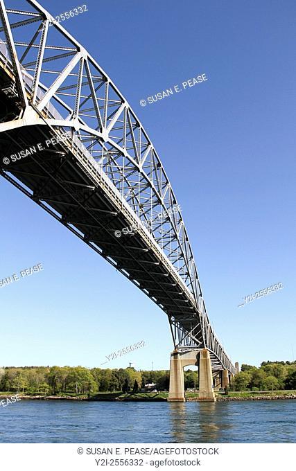 Bourne Bridge, Bourne, Cape Cod, Massachusetts, United States, North America