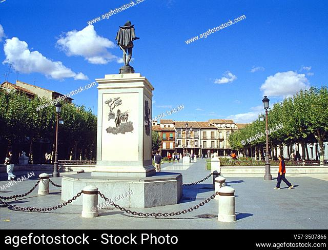 Cervantes Square. Alcala de Henares, Madrid province, Spain