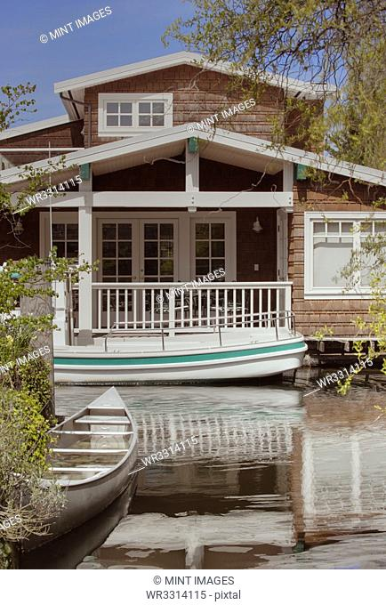 Houseboat on canal