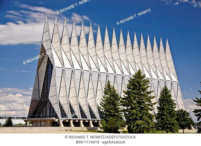 U S  Air Force Academy Cadet Chapel, Colorado Spring, Colorado