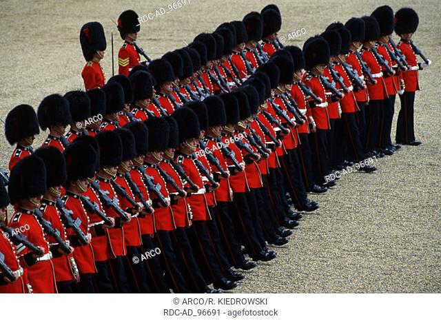 Trooping the Colour the Queen's birthday parade London England Soldiers