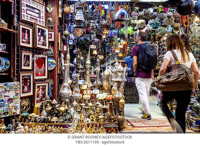 Tourists Shopping In The Muttrah Souk (Al Dhalam), Muttrah, Muscat, Sultanate Of Oman