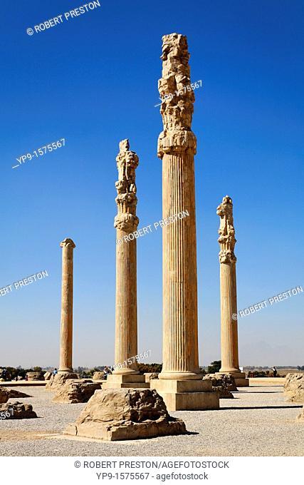 Standing columns, Persepolis, Iran