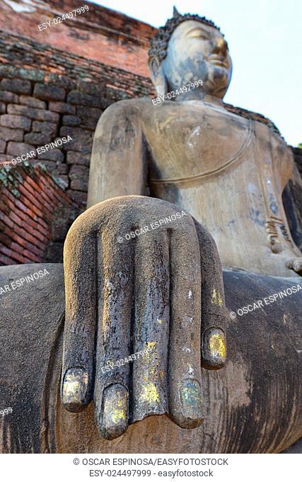 Buddha statue in Sukhothai Historical Park, Thailand, Asia