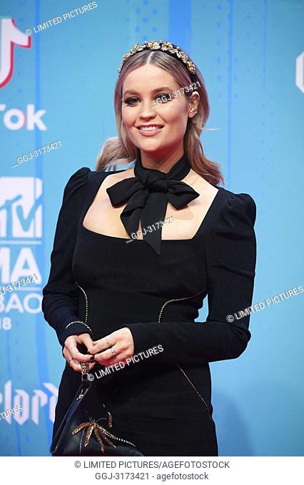 Laura Withmore attends the 25th MTV EMAs 2018 held at Bilbao Exhibition Centre 'BEC' on November 4, 2018 in Madrid, Spain
