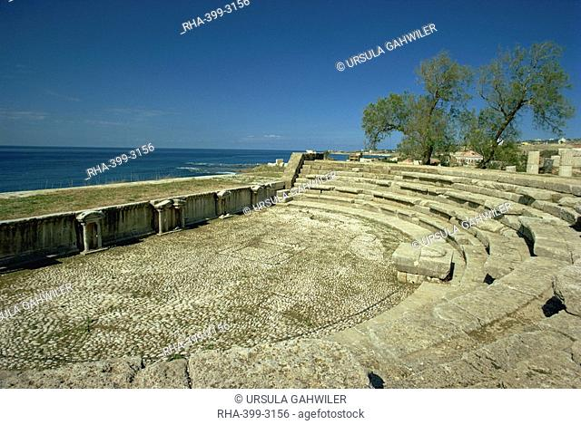 Roman theatre dating from the 3rd century AD, Byblos, UNESCO World Heritage Site, Lebanon, Middle East