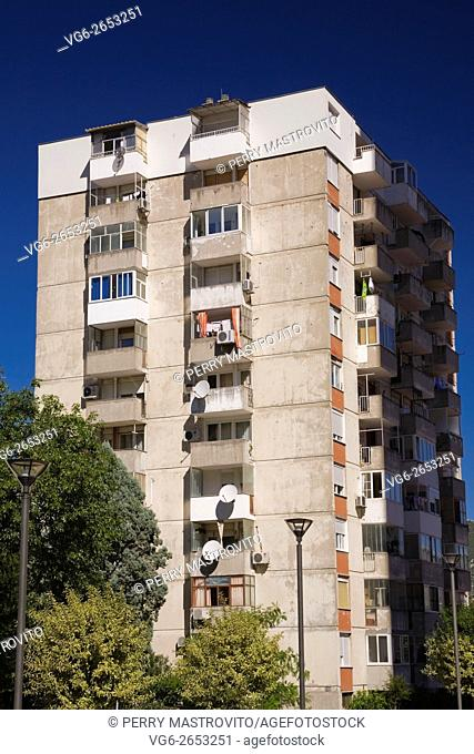 Residential apartment building, Mostar, Bosnia and Herzegovina, Eastern Europe