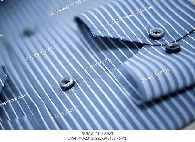 Close-up of a button down shirt