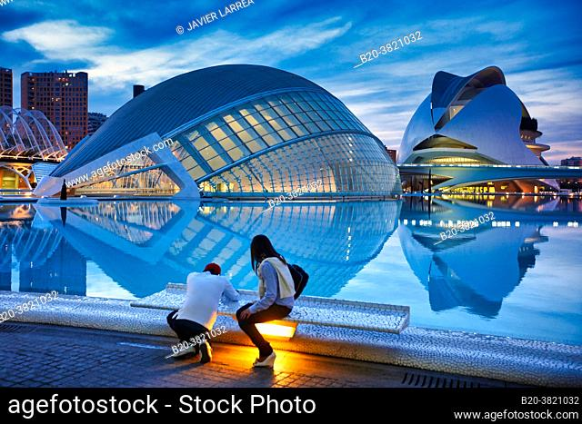 L'Hemispheric, Palace of the Arts, City of Arts and Sciences, Valencia, Valencian Community, Spain