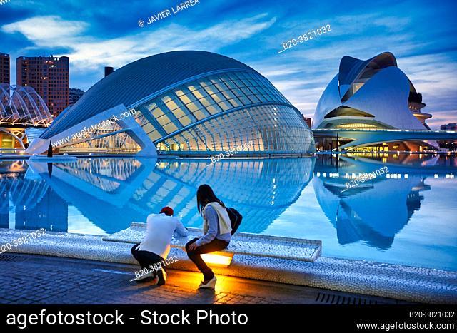 L'Hemispheric, Palace of the Arts, City of Arts and Sciences, Valencia, Valencian Community, Spain