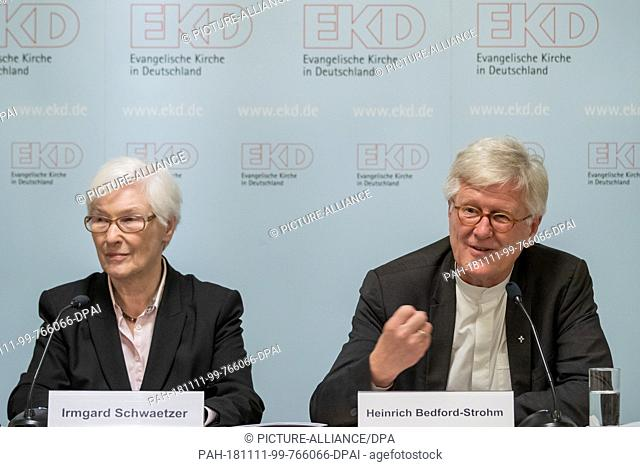 11 November 2018, Bavaria, Würzburg: Bishop Heinrich Bedford-Strohm, President of the Council of the Evangelical Church in Germany (EKD)