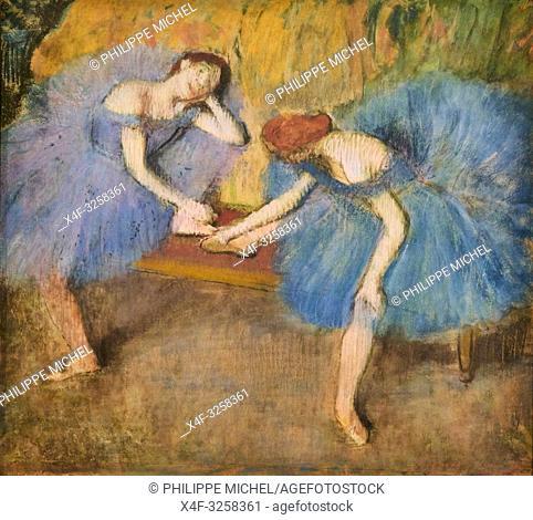 France, Paris, les Tuileries, museum of Orangerie, deux danseuses au repos by Edgar Degas, 1898