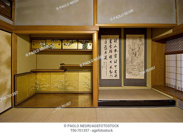Japan, house interior, alcove in traditional  room