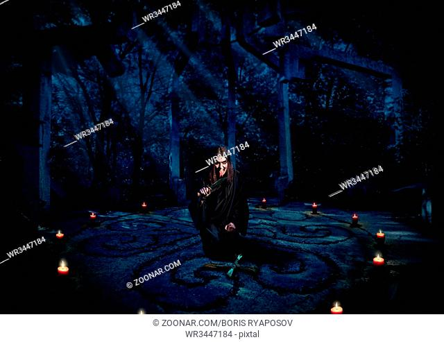 Scary witch in night forest (full version)