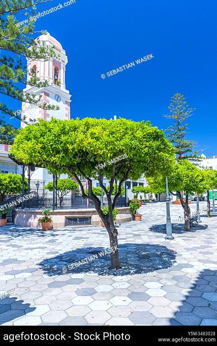 Plaza del Reloj, Estepona, Andalucia, Spain, Europa