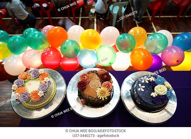Fiesta Satok 3.0 cake decoration competition winners at Sungai Maong Community Hall, Kuching, Sarawak, Malaysia