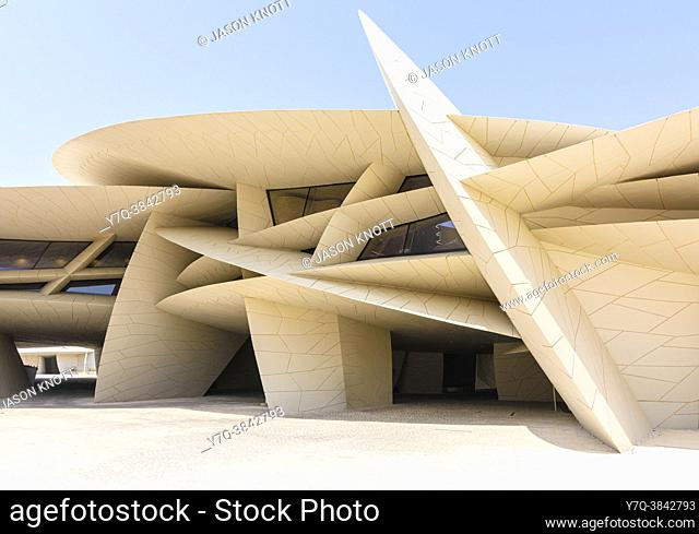 The desert rose inspired architectural landmark of the National Museum of Qatar, Doha, Qatar
